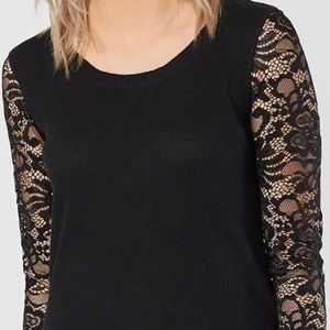 BKE Long Sleeve Black Shirt